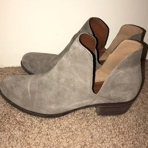 lucky brand cut out booties
